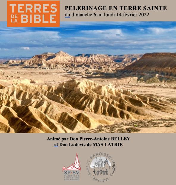 Pèlerinage en Terre Sainte 2022